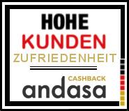 Andasa wurde von BILD Kunden eine hohe Gesamtzufriedenheit attestiert