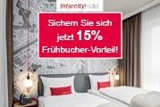 7% Cashback bei InterCityHotel bis 20.01.2019