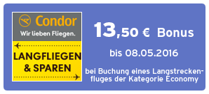 Bonus bei Condor
