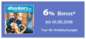Bonus bei ebookers Hotels