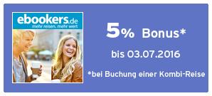 Bonus bei ebookers Kombi-Reisen