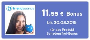 Bonus bei Friendsurance