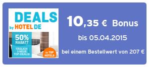 Bonus bei Hotel.de Deals