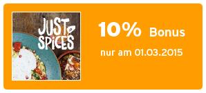 Bonus bei justspices.de