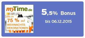 Bonus bei myTime.de
