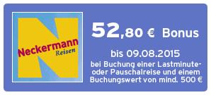 Bonus bei Neckermann Reisen