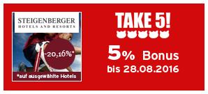 Bonus bei Steigenberger Hotels