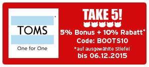 Bonus bei TOMS
