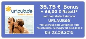 Bonus bei Urlaub.de