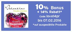 Bonus bei Valentins
