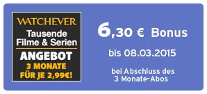 Bonus bei Watchever