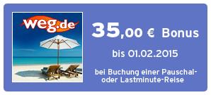Bonus bei weg.de