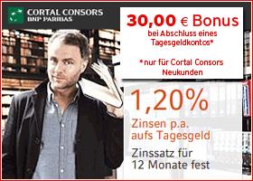 Bonus bei Cortal Consors