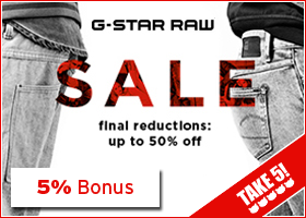 Bonus bei G-Star RAW