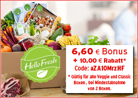 Bonus bei HelloFresh.de
