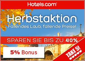 Bonus bei Hotels.com