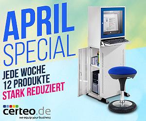 APRIL SPECIAL - Jede Woche 12 Produkte stark reduziert + 6% Bonus!