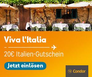 20€ Rabatt auf deine Italien-Reise mit Condor!