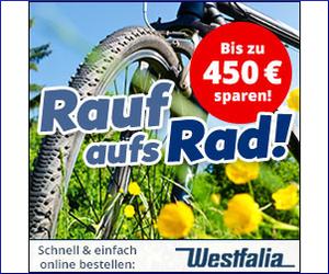 Große Frühjahraktion bei Westfalia! Bis zu 450€ Rabatt auf dein neues Fahrrad!