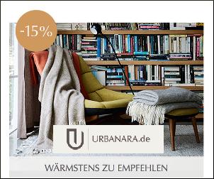 15% Rabatt auf das gesamte Sortiment von URBANARA!