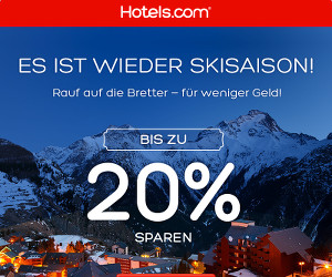Mit Hotels.com und tollen Rabatten in die Ski-Saison starten!