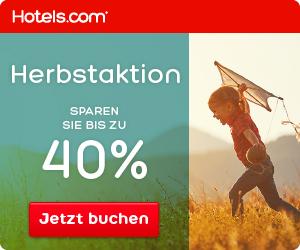 Herbst-Rabatte bei hotels.com - bis zu 40%