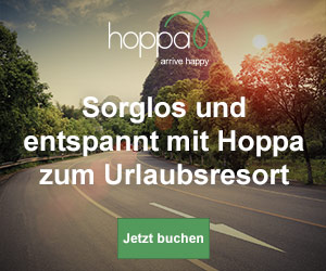 Mit Hoppa und 15% Rabatt entspannt und glücklich ans Ziel kommen!