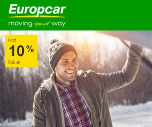 10% Rabatt beim Winterspecial von Europcar