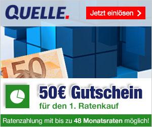 QUELLE schenkt dir 50€ bei einer Bestellung mit Ratenkauf-Zahlung!