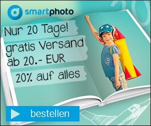 Der Herbst bringt 20% Rabatt auf alle Fotoprodukte von smartphoto!