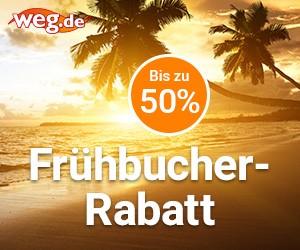 Bis zu 50% Frühbucher-Rabatt auf Pauschal & Lastminute Reisen!