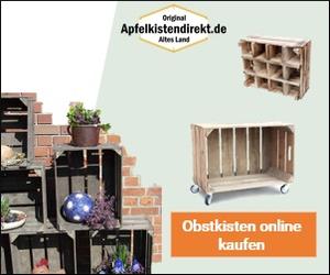 Apfelkisten für dekorative Möbelstücke oder Wohnaccessoires mit 8% Bonus bis 15.3.!