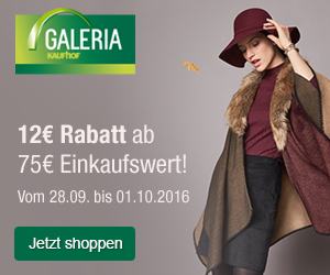 Tolle Herbst-Aktionen bei Galeria: 12€ Rabatt bei einem Einkauf von 75€ oder 20% auf Schuhe!