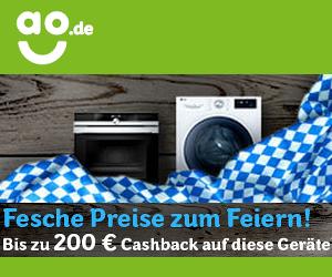 Aktionsgerät kaufen und bis zu 200€ Cashback von ao erhalten!