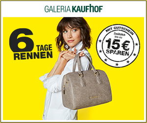 Bei Galeria Kaufhof startet das 6-Tage-Rennen - du kannst bis zu 15€ sparen & du erhältst zusätzlich 6,5% Andasa Bonus! !