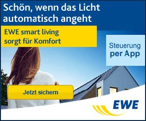 Sicher dir jetzt die Smart Living Produkte von EWE mit 50€ Cashback Bonus!