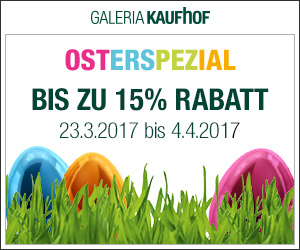 Bis zu 15% Rabatt mit dem Galeria Kaufhof OSTERSPEZIAL!