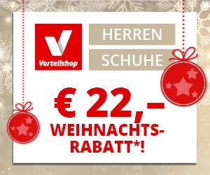 22 Euro Weihnachtsrabatt bei Vorteilshop