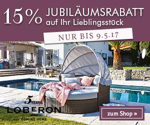 15% Jubiläumsrabatt bei LOBERON