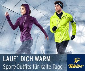 Jetzt die Lauf-Outfits von Tchibo entdecken + 25% Rabatt ohne Mindestbestellwert einlösen!