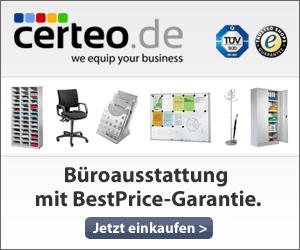 Büros stilvoll einrichten - jetzt mit 10% Rabatt bei Certeo + 6,5% Andasa-Bonus!