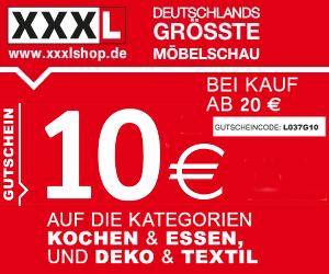 50% sparen: 10€ Rabatt ab 20€ Einkauf im XXXL Onlineshop!