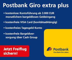 Für Neukunden: Europa-Freiflug bei Eröffnung des Giro extra plus bei der Postbank!