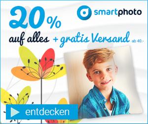 20% auf alles und gratis Versand ab 40€ bei Smartphoto!