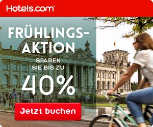 Achtung Frühlingsaktion bei hotels.com - du kannst bis zu 40% sparen!