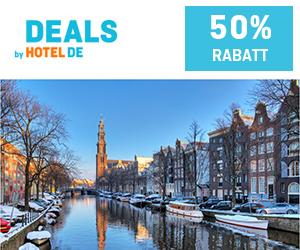 Mit den DEALS by HOTEL DE Neues entdecken und mindestens 50% pro Hotelbuchung sparen!