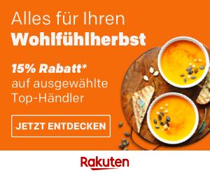 Wohlfühlherbst bei Rakuten - 15% Rabatt!