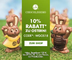 10% Rabatt zu Ostern bei Chocolissimo