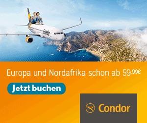 Mit Condor günstig auf die Kanaren