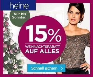 Weihnachtsrabatt bei Heine: 15% auf ALLES